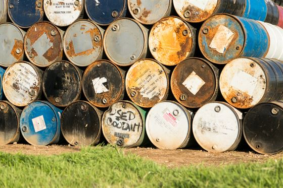 collection of gallon drums