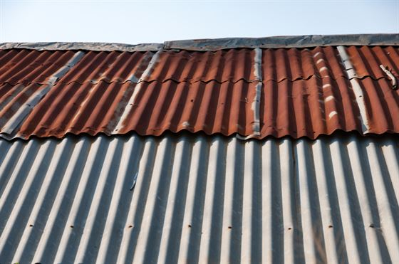rusty tinned roof