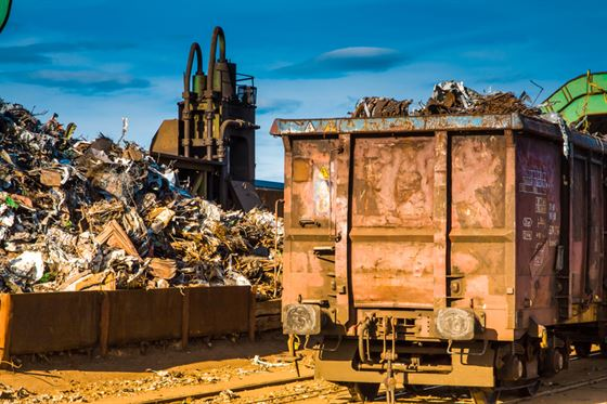 ferrous metals in a waste