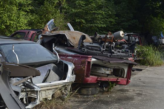 scrapped cars